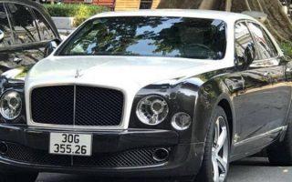 Hà Nội: Phát hiện siêu xe Bentley đeo biển kiểm soát giả