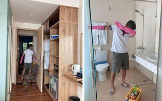 Lương Bằng Quang – Ngân 98… dọn phòng, chà toilet kiếm sống