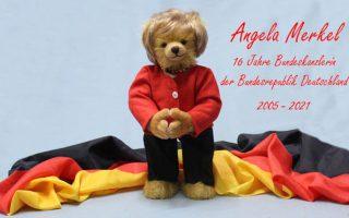 Nhà máy sản xuất đồ chơi ở Đức làm gấu bông dành riêng cho Angela Merkel